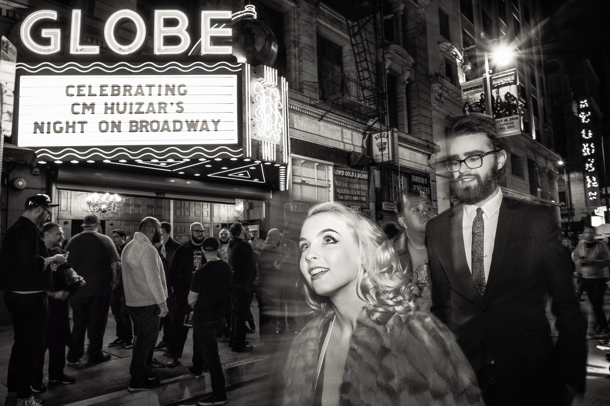 A night on Broadway, Downtown Los Angeles