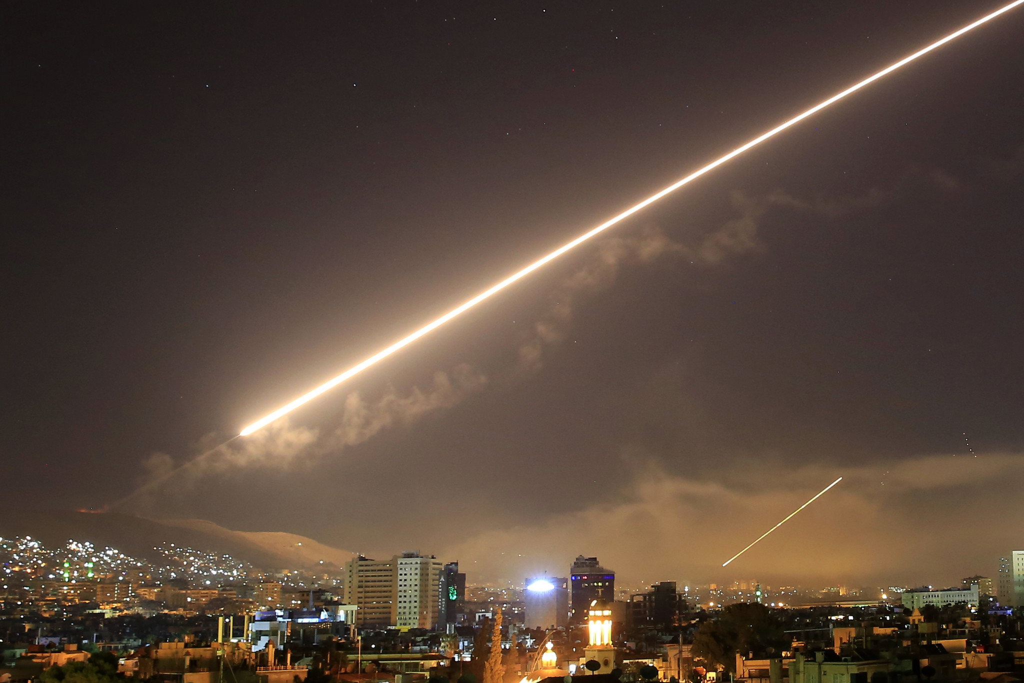 Syria: US, UK and France launch strikes in response to ...