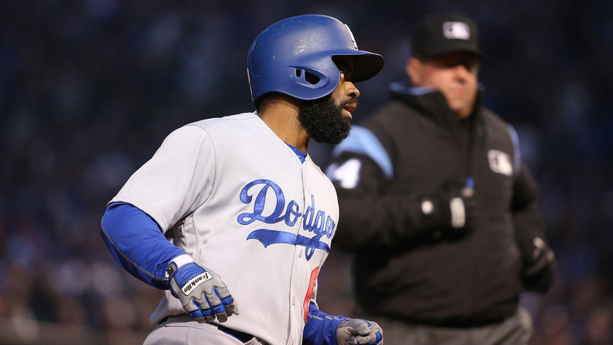 Dodgers outfielder Andrew Toles out at least two weeks ...