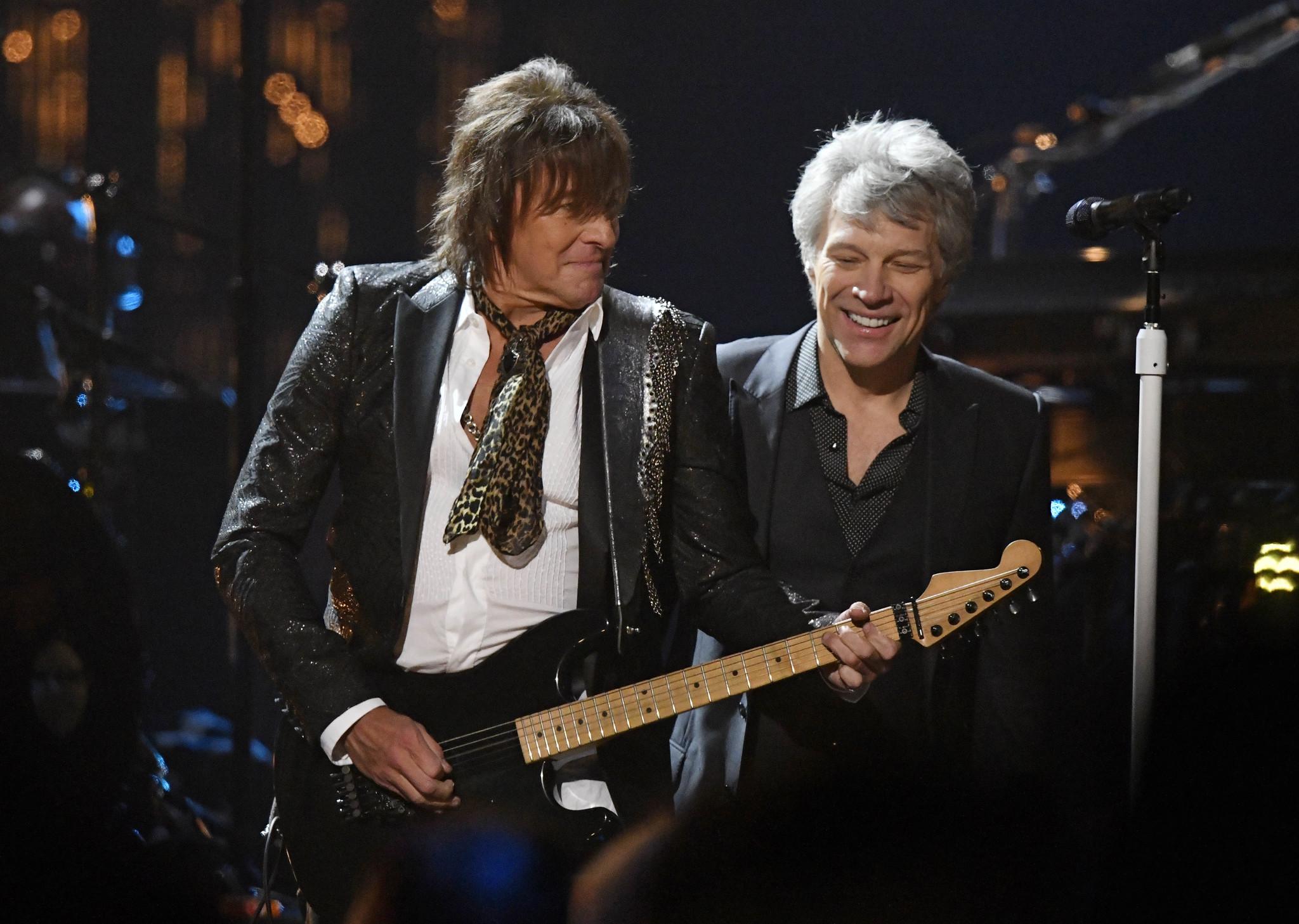 Bon Jovi reunites as band enters Rock Hall of Fame — alongside Cars ...