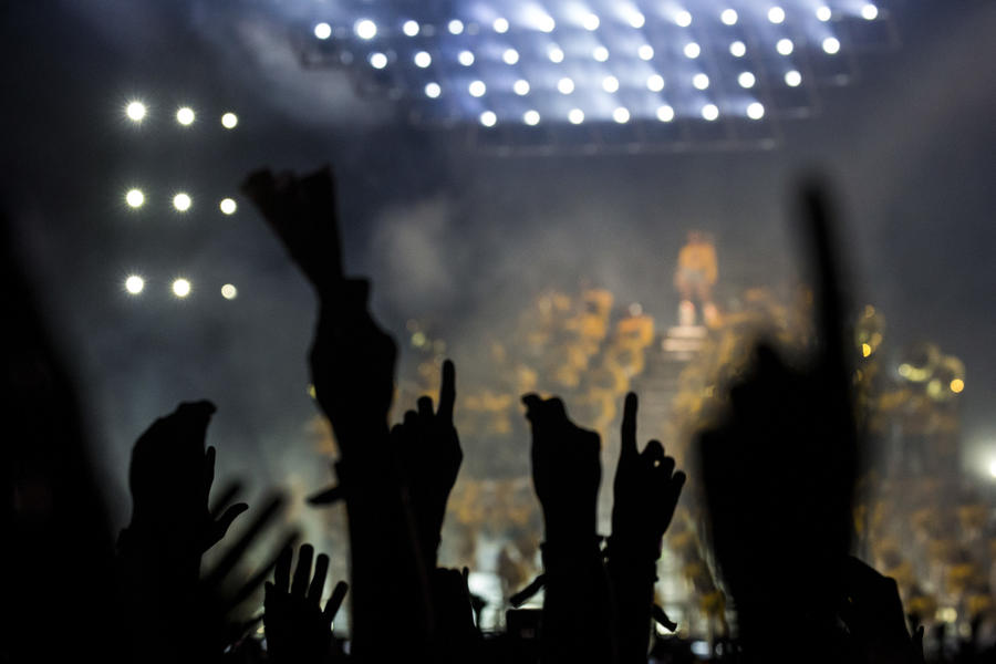 Beyoncé commands the Coachella main stage Saturday evening. (Kent Nishimura / Los Angeles Times)