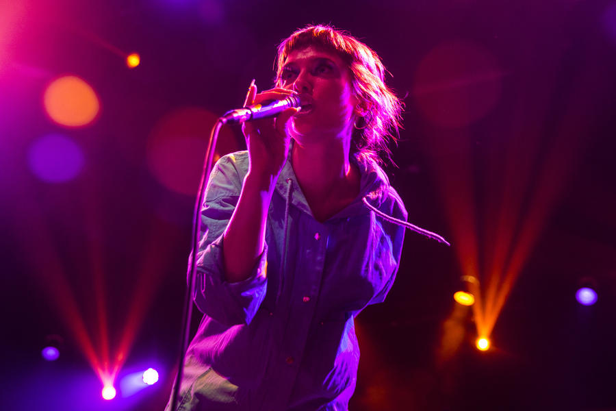 Katie Alice Greer of Priests at Coachella. (Kent Nishimura / Los Angeles Times)