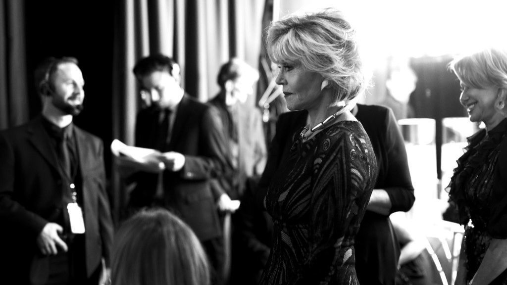Presenter Jane Fonda attends the seventh biennial UNICEF Ball on Saturday in Beverly Hills, California.