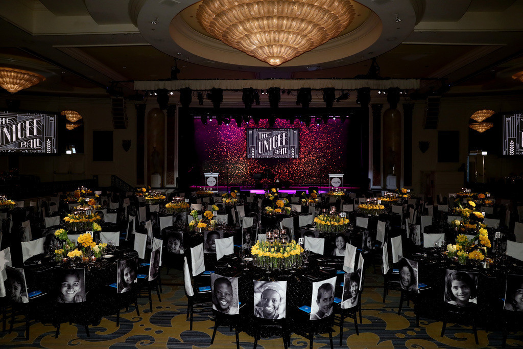 General ambience inside the Seventh Biennial UNICEF Ball: Los Angeles on April 14, 2018 in Beverly Hills, California.