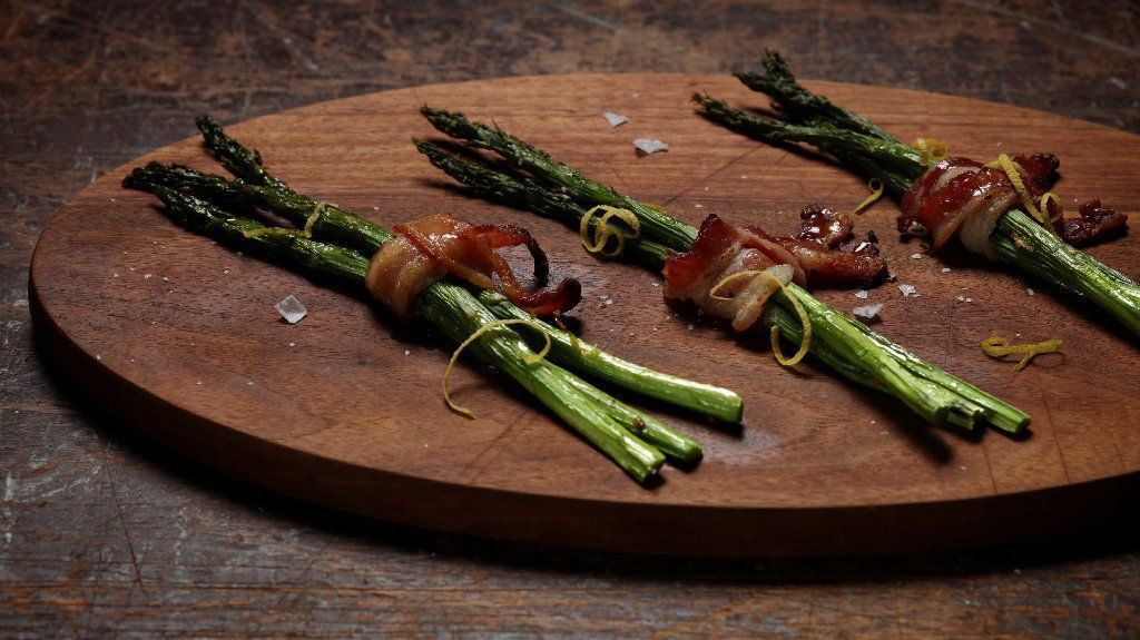 Make spring's asparagus even better with bacon