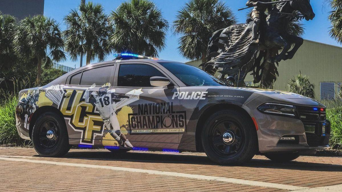 Ucf Police Unveil National Champions Cruiser Orlando Sentinel
