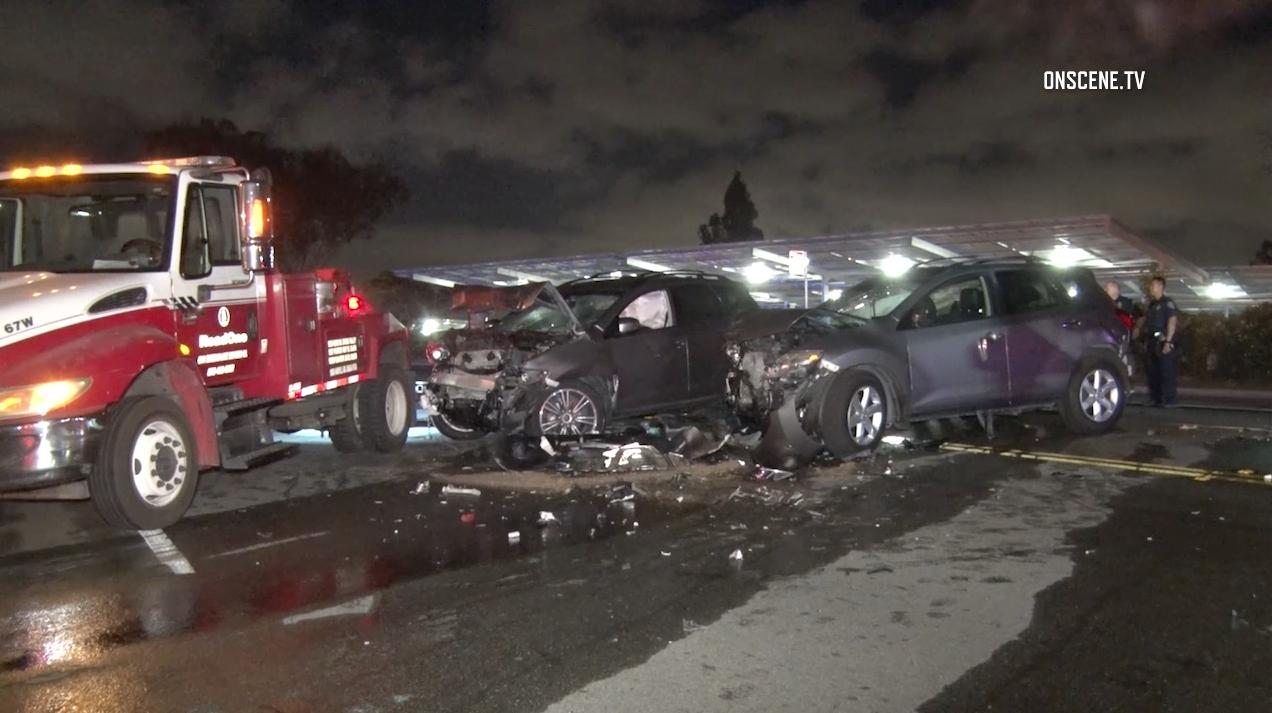 3-car crash sends 3 people to hospital - The San Diego Union-Tribune