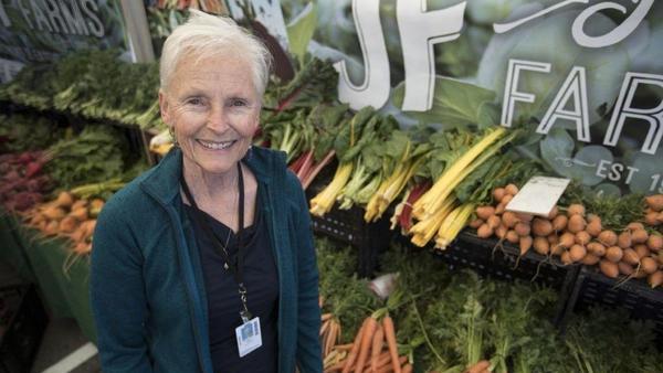 Q&A at the Santa Monica farmers market with supervisor Laura Avery