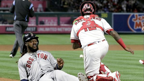 Red Sox continue torrid hitting against Angels and complete three-game sweep