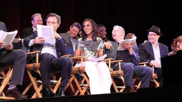 'Scandal' celebrates its finale with a live cast read in Hollywood