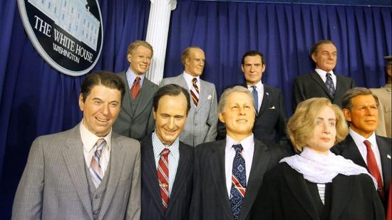 Presidential wax figures