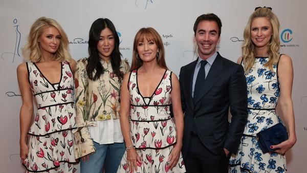 Paris Hilton, Jane Seymour, Laura Kim and Fernando Garcia attend the Colleagues' annual luncheon
