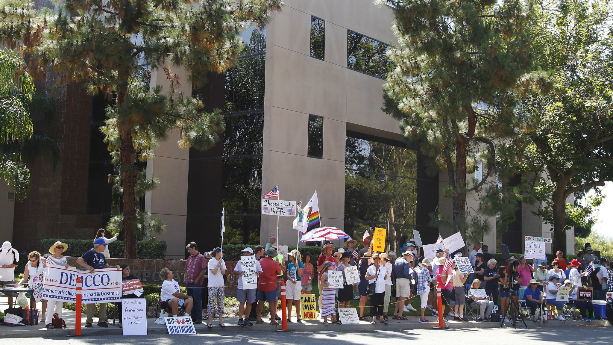 Darrell Issa protests