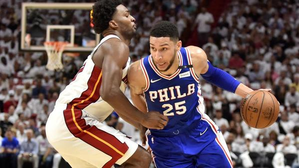 NBA fines Heat's Justise Winslow $15,000 for stepping on Joel Embiid's mask