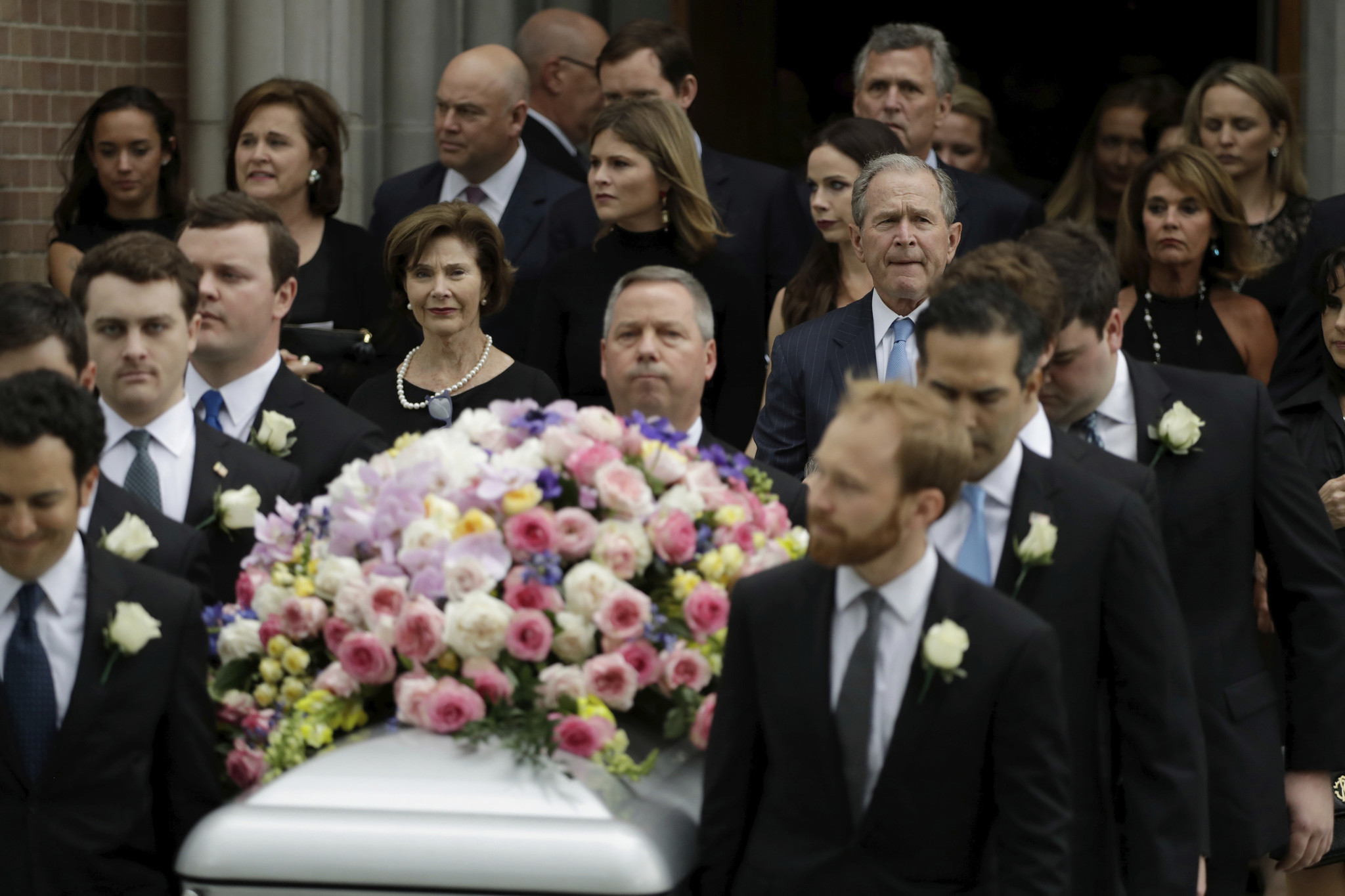 Laughter Tears At Funeral For Barbara Bush As Hundreds Pay Respects