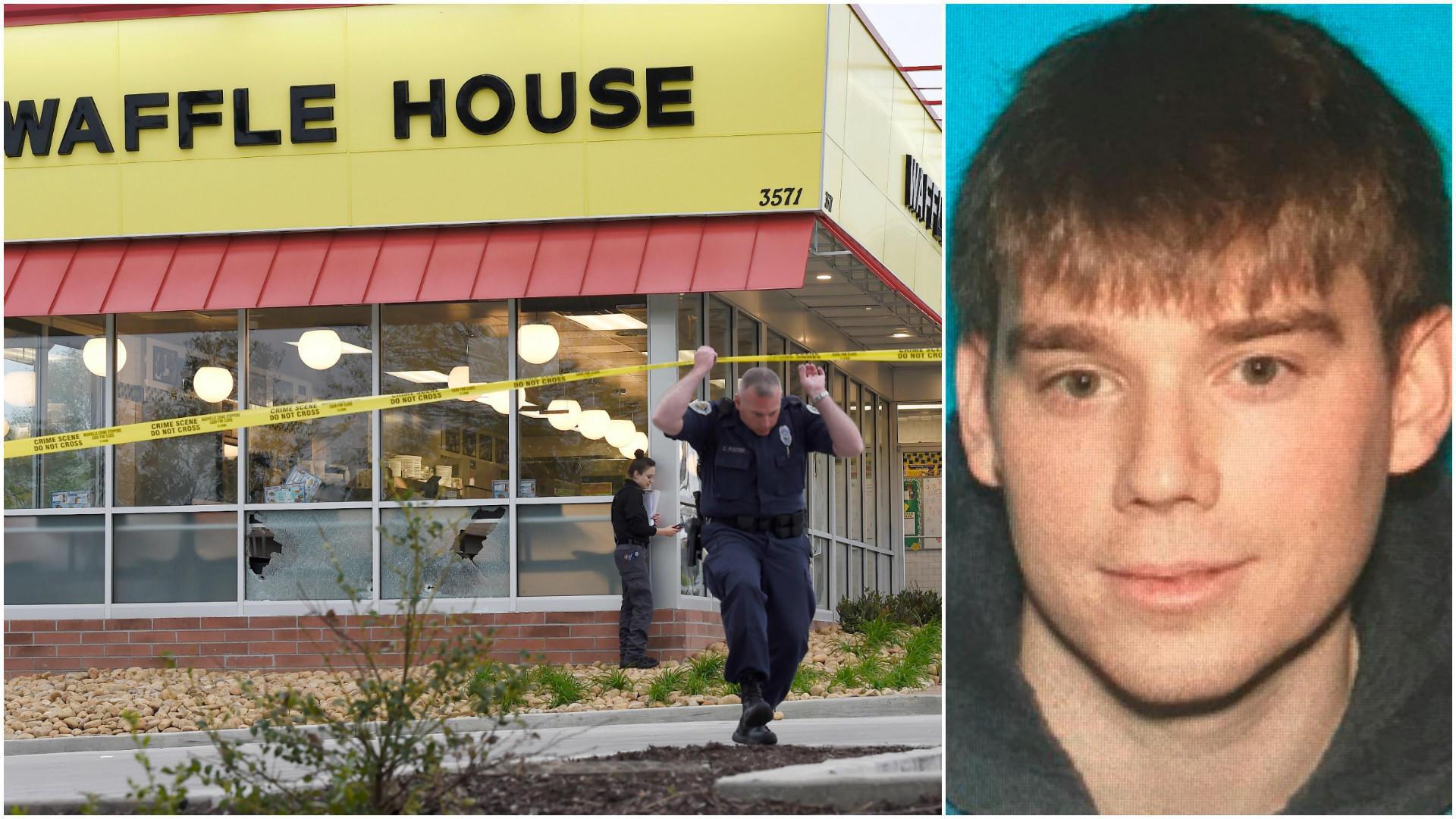 Naked Gunman Kills 4 at Tennessee Waffle House, Suspect