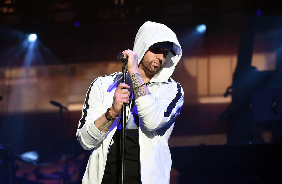 After a 2007 overdose, Eminem dedicated himself to changing his life. The rapper celebrated 10 years of sobriety with a social media post. (Kevin Winter / Getty Images for Coachella)