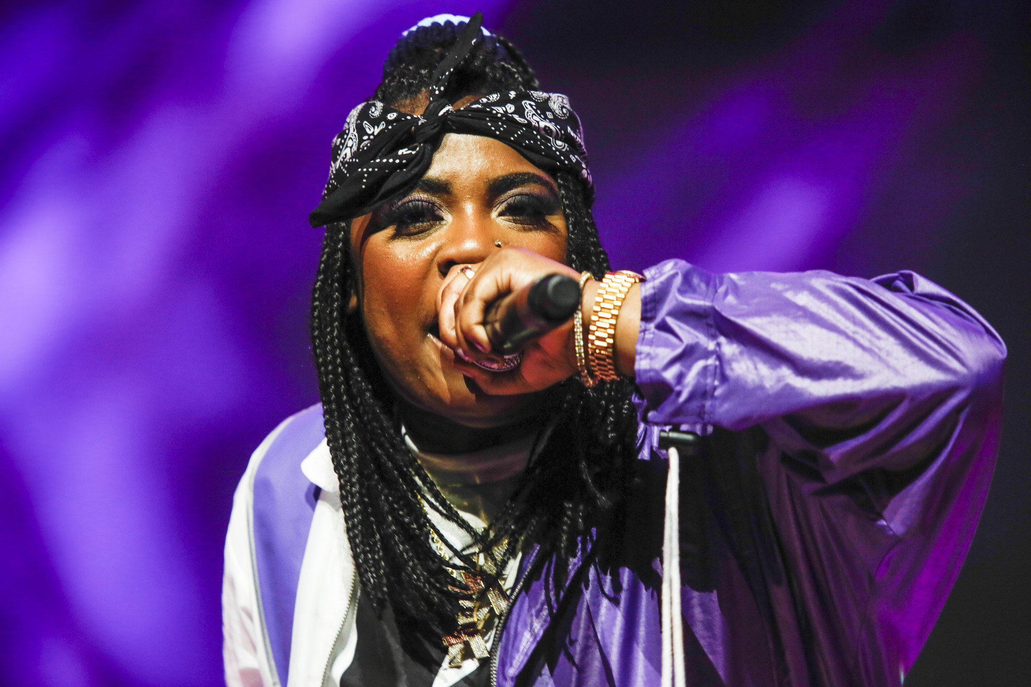 INDIO,CA — SUNDAY, APRIL 22, 2018-- Kamaiyah performs at the Gobi stage at Coachella Valley Music