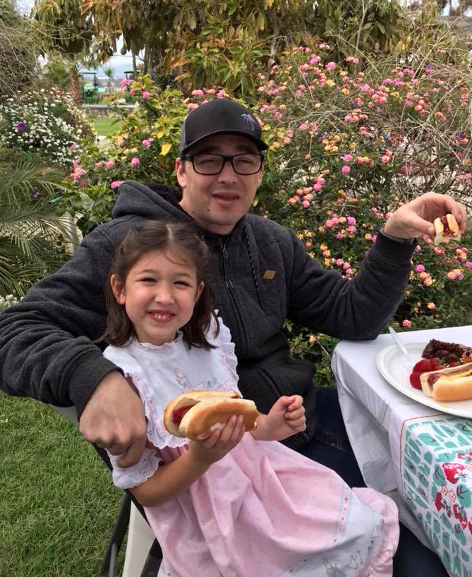 This is photo of Anthony Mele Jr. and his 5-year-old daughter, Willow. Mele was stabbed to death as