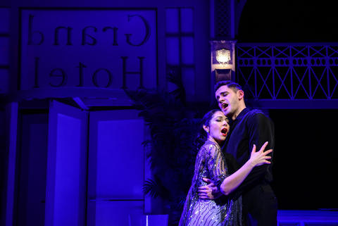 "Michelle Jasso and Erik Dohner in ""Grand Hotel"" at Theater Wit."