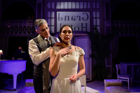 "Liz Norton and Michelle Jasso in Kokandy Productions' ""Grand Hotel"" at Theater Wit."