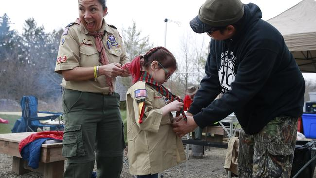 Girls begin to join Boy Scout troops
