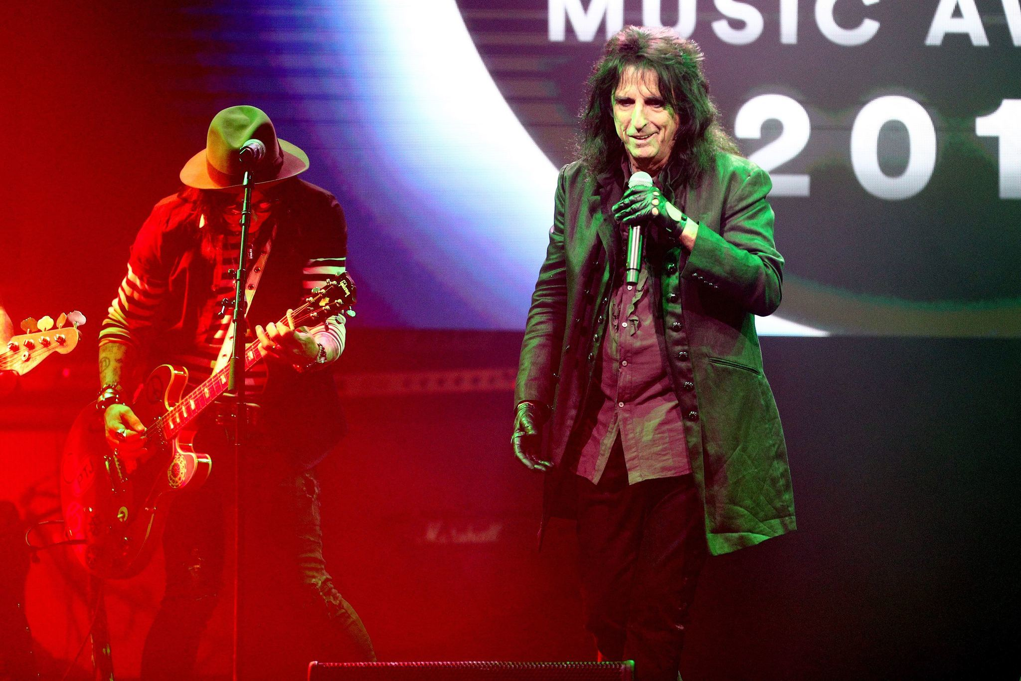 Alice Cooper onstage at the 35th annual ASCAP Pop Music Awards at the Beverly Hilton Hotel in Beverly Hills on Tuesday.