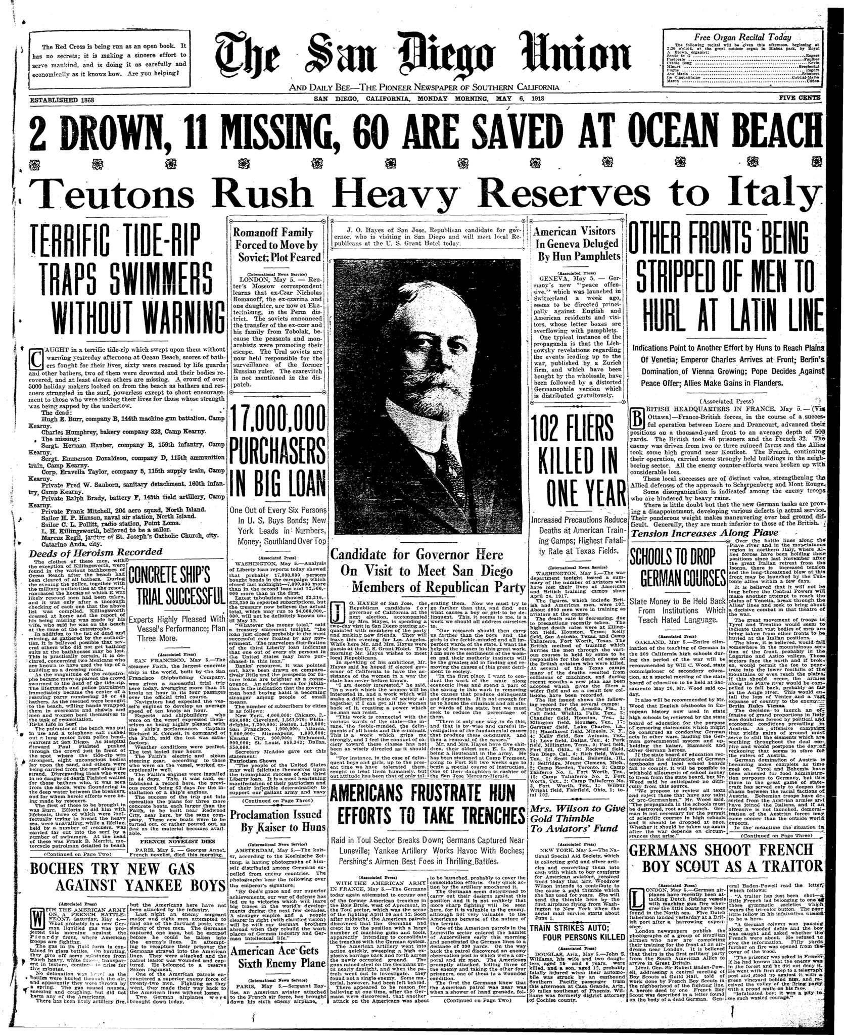 May 6, 1918