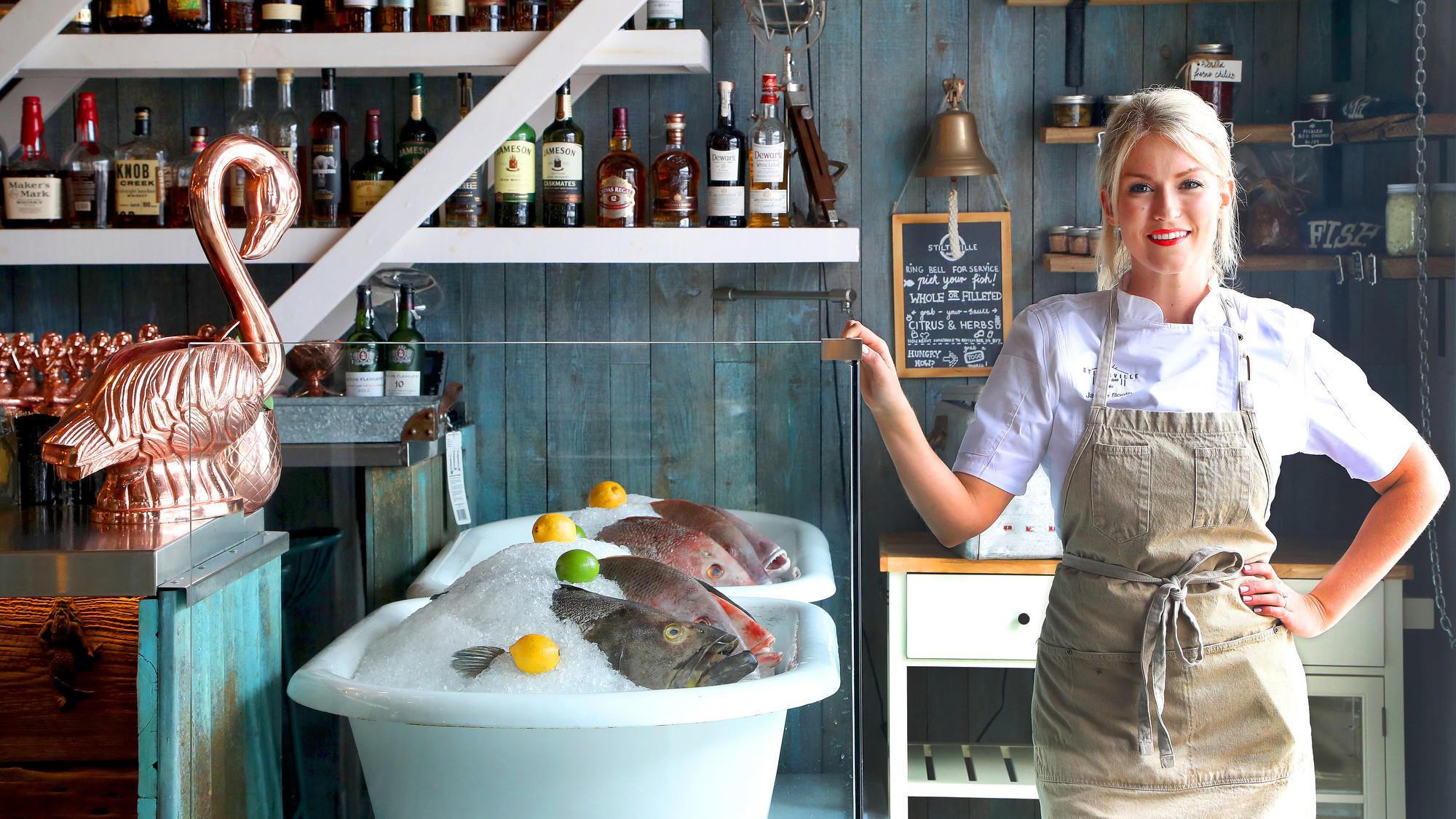 Review stiltsville fish bar in miami beach wobbles with for Stiltsville fish bar