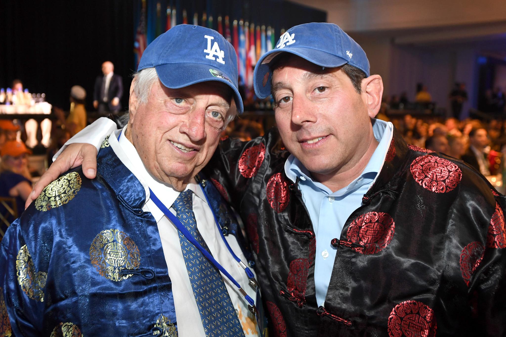 Tommy Lasorda with Warren Lichtenstein.