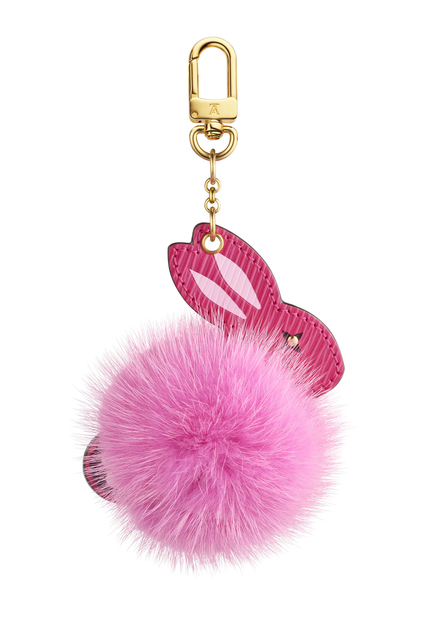 Louis Vuitton's rabbit fur bag charm.