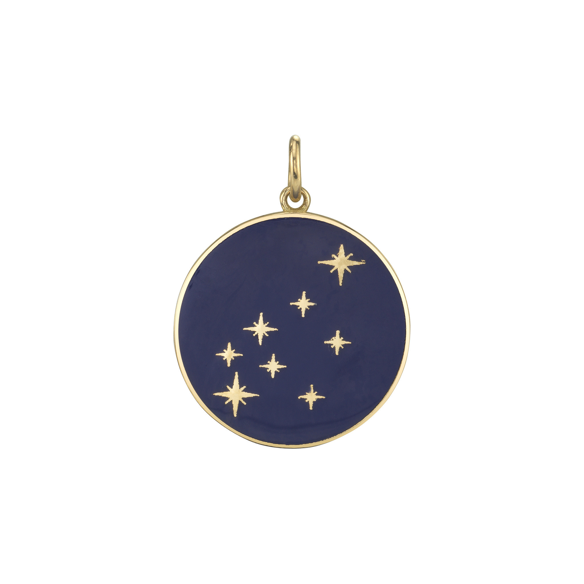 Bare Collection's Constellation Aquarius Diamond Enamel Pendant.