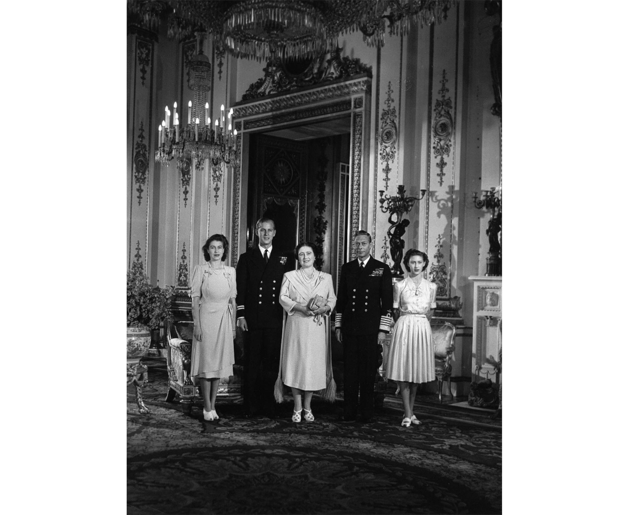King George VI, Queen Elizabeth, Princess Elizabeth and Princess Margaret