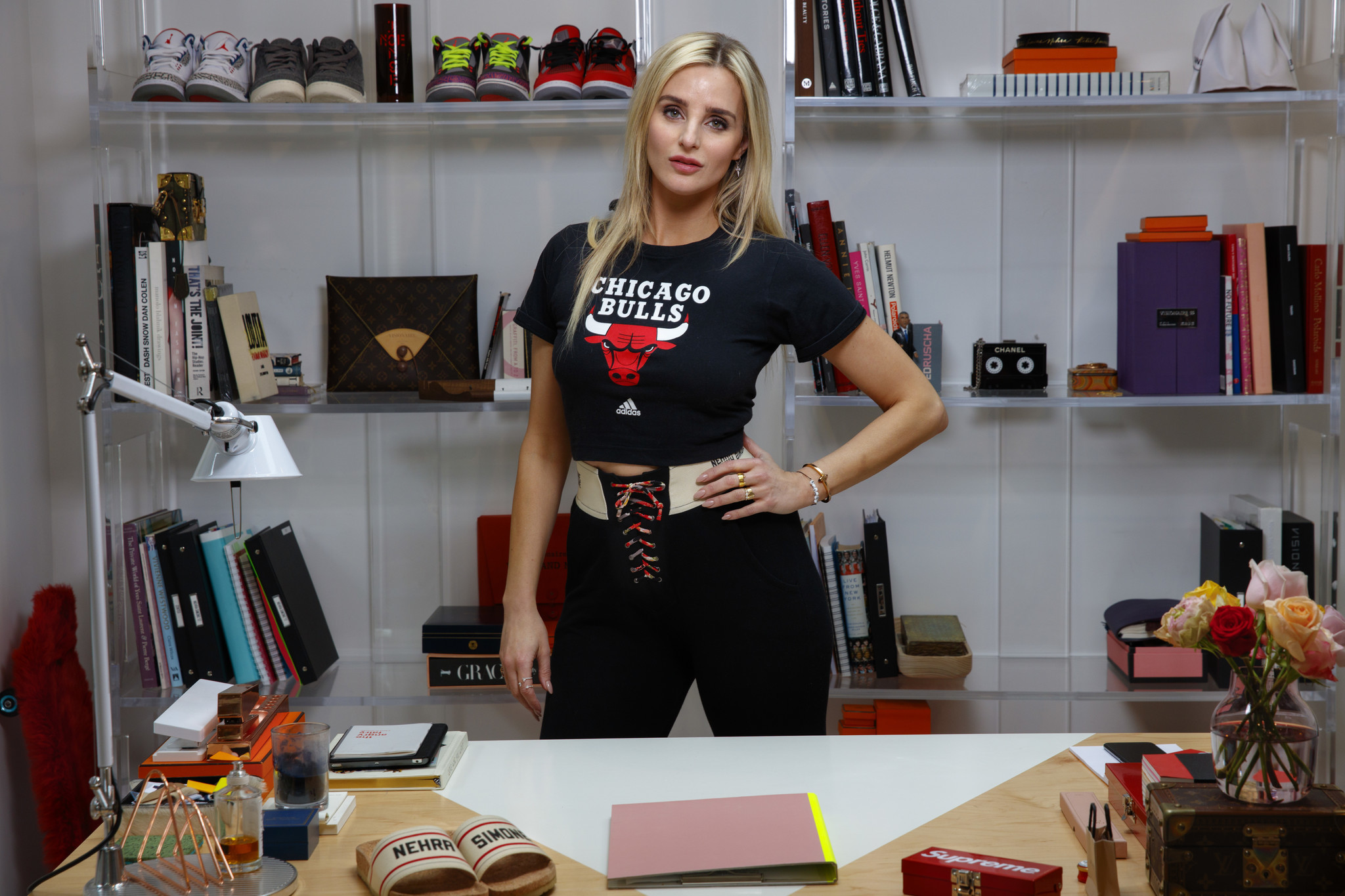 Katie Nehra at her Hollywood Hills home office.