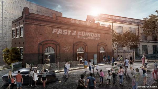 Renderizaciones del nuevo paseo Fast and the Furious Supercharged en Universal Orlando Resort. Crédito original: desde Universal Orlando Resort.