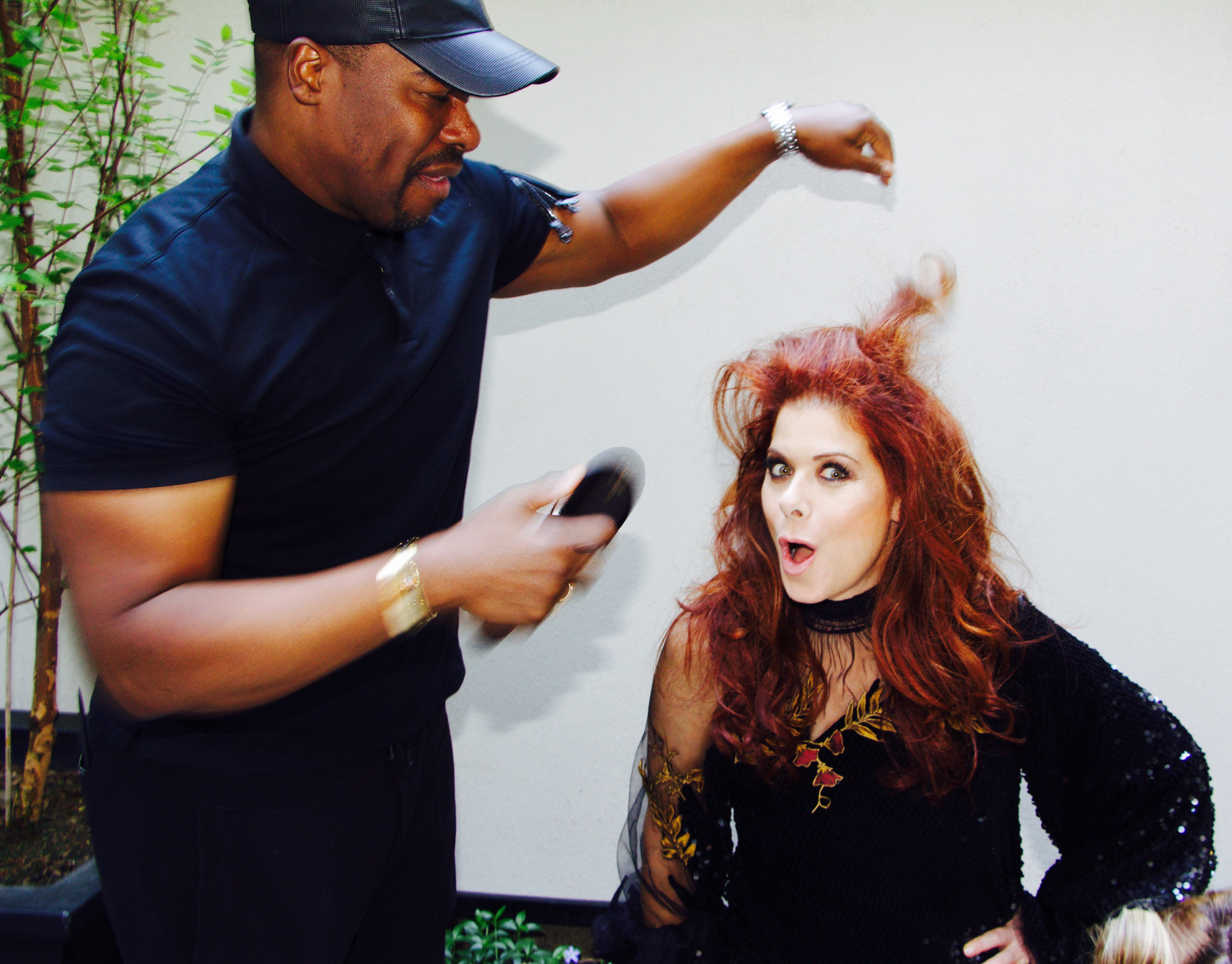 """Ted Gibson with """"Will & Grace"""" star Debra Messing."""