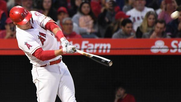 Mike Trout's rainbow powers Angels past the Orioles