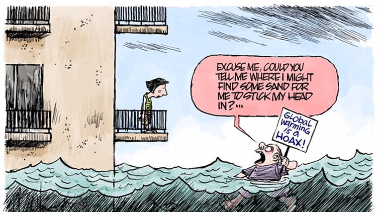 JIM MORIN CARTOON 5/6/18 (Climate Change Sea Level Rise)