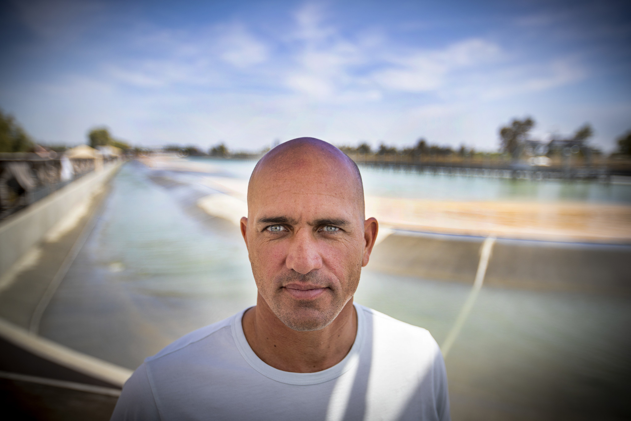 LEMOORE, CALIF. — FRIDAY, MAY 4, 2018: Kelly Slater, 11-time WSL Men's Champion, poses for a portra
