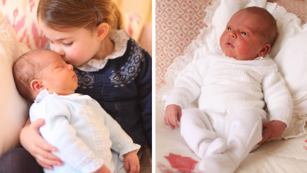 William and Kate share photos of the little prince, Louis
