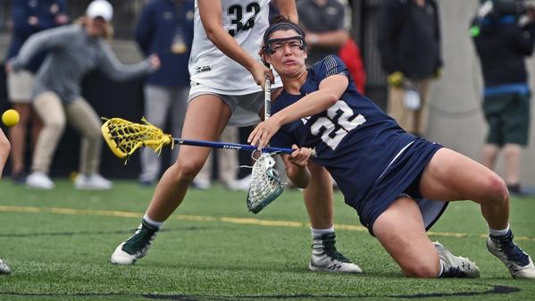 Navy upsets Loyola for second year in row to win Patriot League women's lacrosse title, 17-10