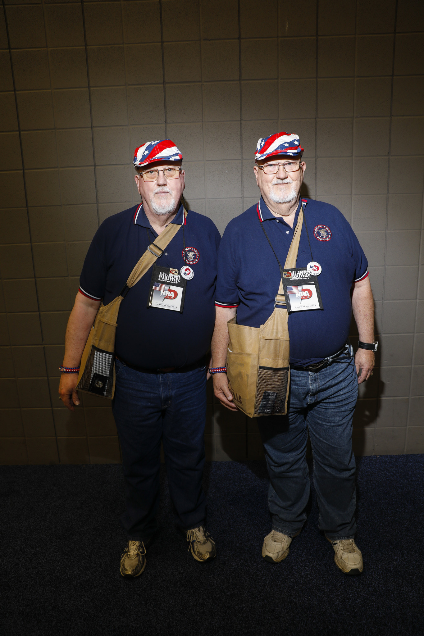Twins Jerry Gooldin, left, and John Gooldin