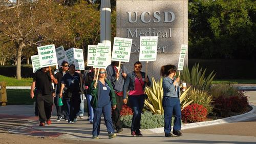 Image result for Massive UC workers' strike disrupts dining, classes and medical services