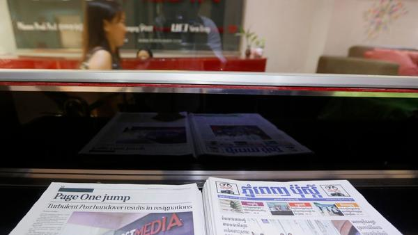 Cambodia's 'last bastion of independent media' is thrown into turmoil