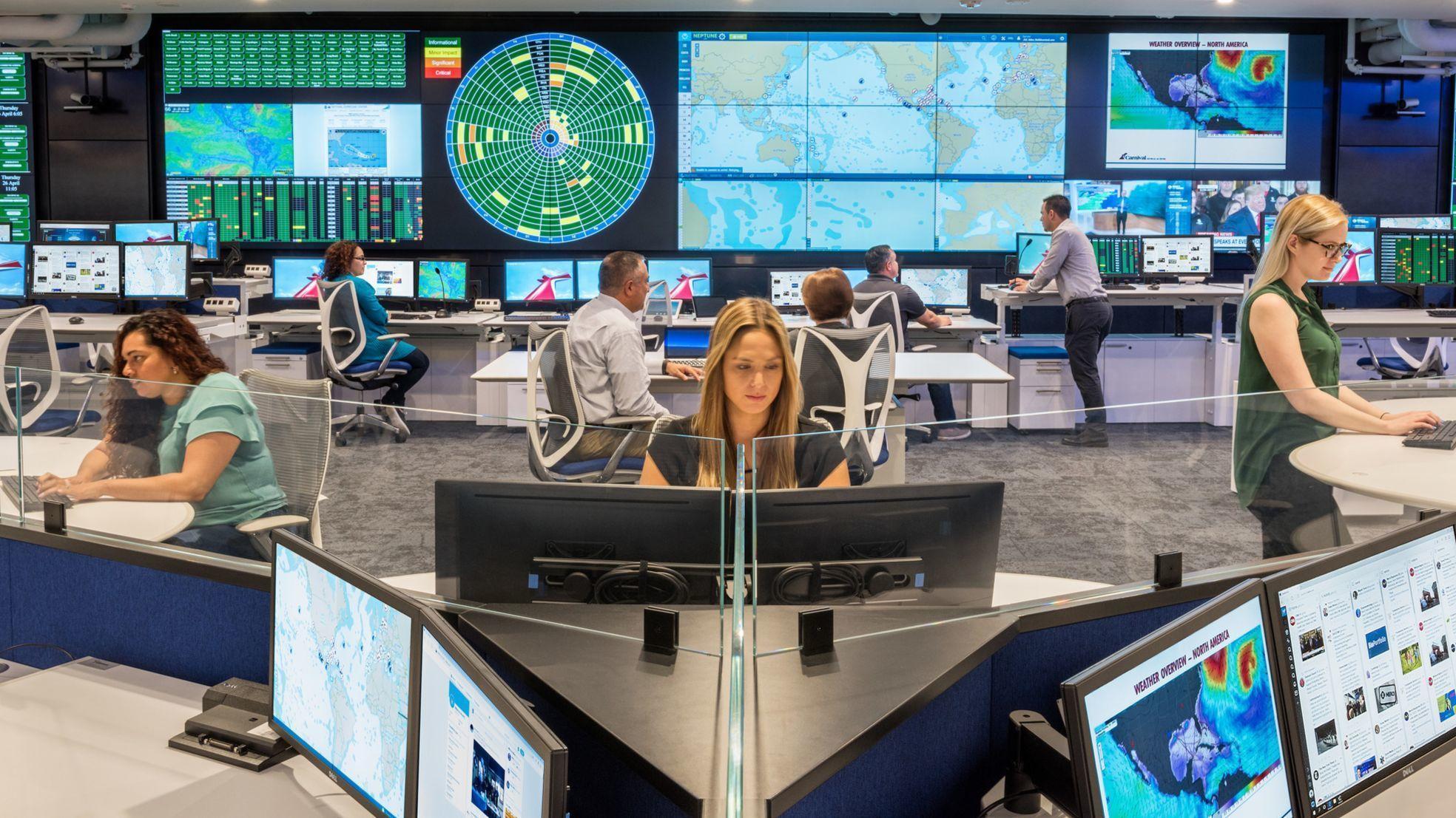 Αποτέλεσμα εικόνας για Carnival Cruise Line Unveils New 'Command Center' Facility
