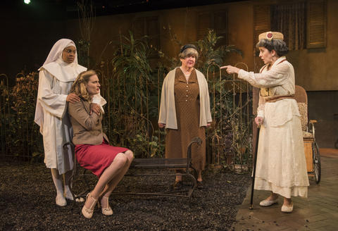 Ayanna Bria Bakari, Grayson Heyl, Ann James and Mary K. Nigohosian in Suddenly Last Summer on stage through June 20, 2018 at the Raven Theatre.