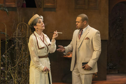 Mary K. Nigohosian and Wardell Julius Clark i Suddenly Last Summer on stage through June 20,  2018 at the Raven Theatre.