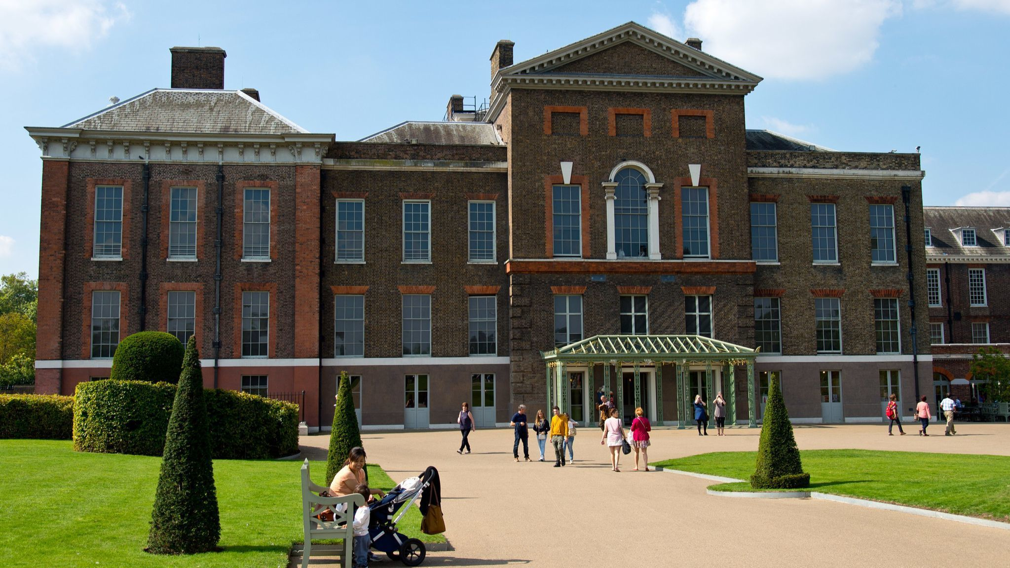 A view of Kensington Palace.