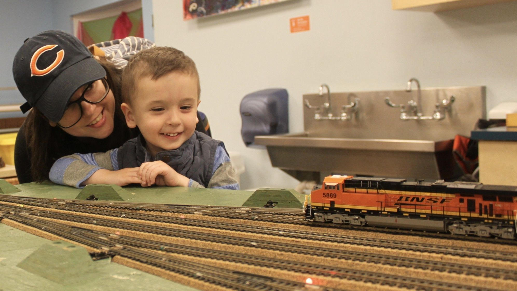 It's train time at DuPage Children's Museum pop-up exhibit