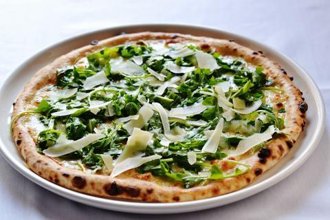 Pizza Bianco atMattone Restaurant + Bar,9 E 31st St, La Grange Park, IL 60526.